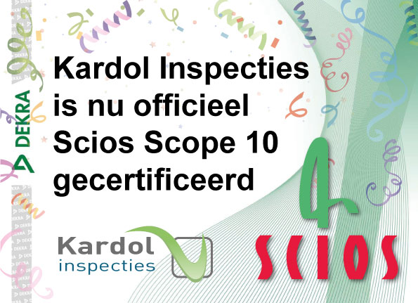 Kardol Inspecties - Certificaat Scios Scope 10