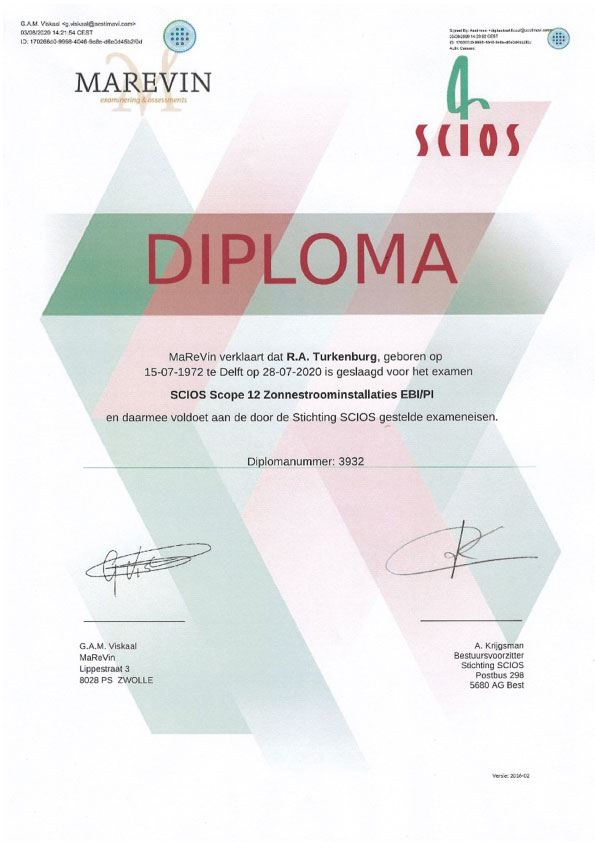 Scios Scope 12 Diploma - Kardol Inspecties